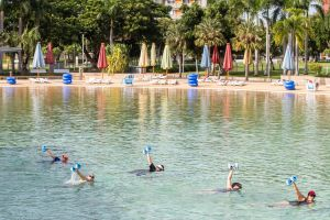 Aqua fitness in the Wave Lagoon - Tourism TAS